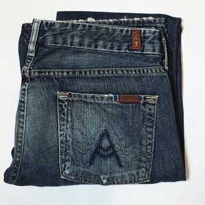 7 for All Man Kind Denim Bootcut Jean
